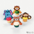 Jungle Animal Cupcake Character Picks (12 Large )